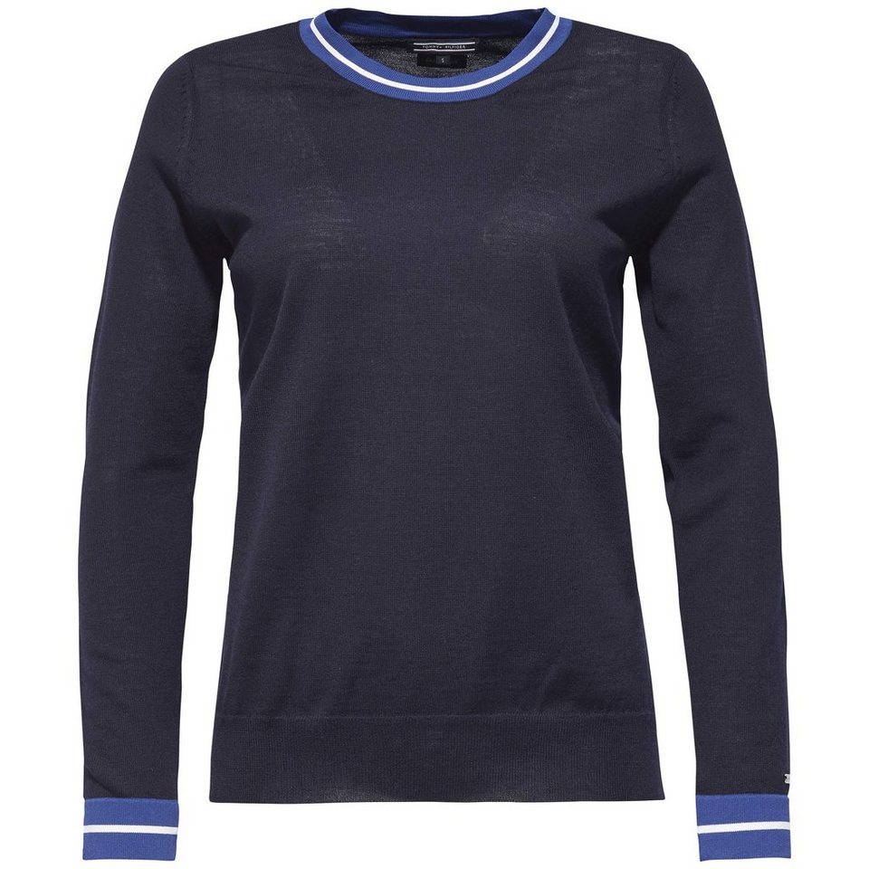 Tommy Hilfiger Pullover »ILKER TIPPING C-NK SWTR« in NIGHT SKY