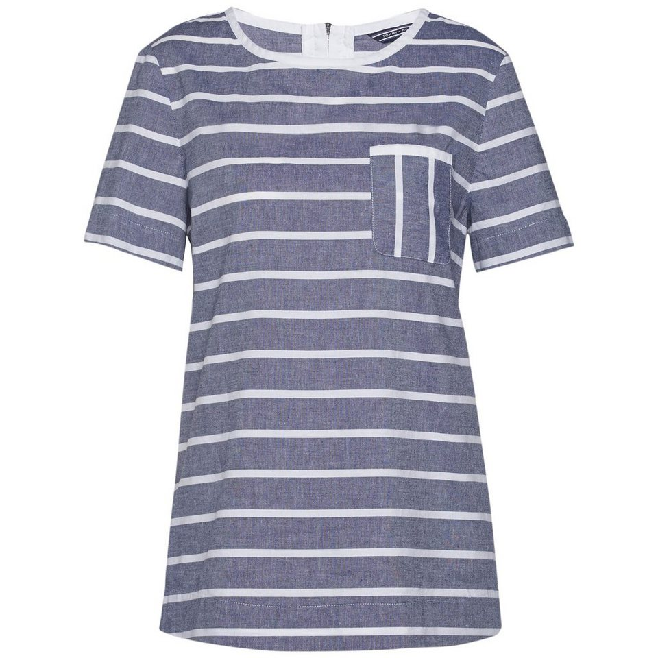 Tommy Hilfiger Blusen »NADIE TOP SS« in BLUE DEPTHS/WHITE