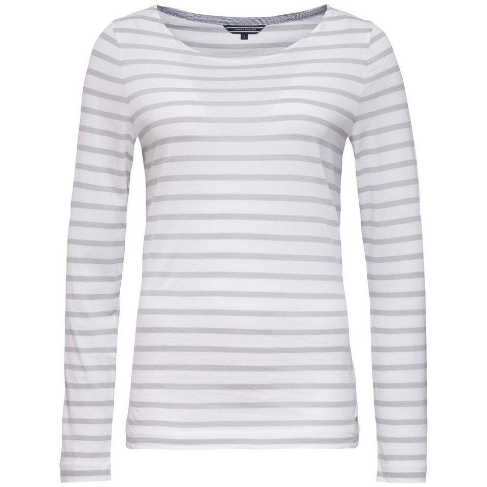 Tommy Hilfiger Shirts (mit Arm) »LARK ROUND NK TOP LS« in WHITE / LIGHT STEEL