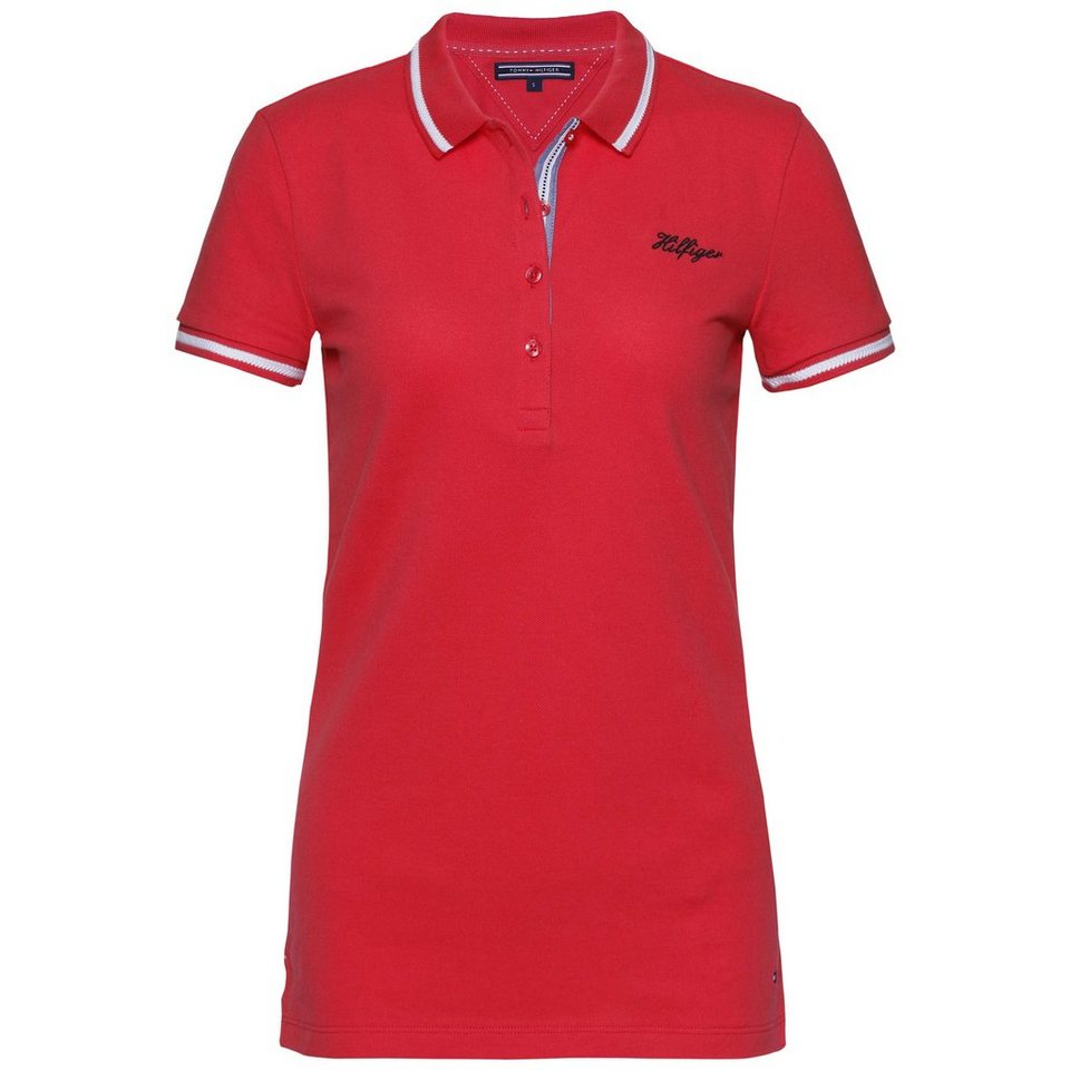 Tommy Hilfiger Poloshirts (mit Arm) »MANUELA POLO SS« in HIBISCUS