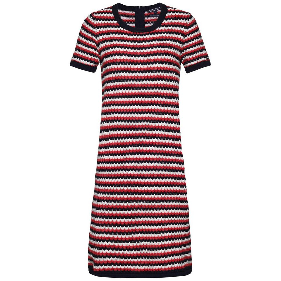 Tommy Hilfiger Kleider »HALIMA DRESS« in HIBISCUS/WHITE/NIGHT
