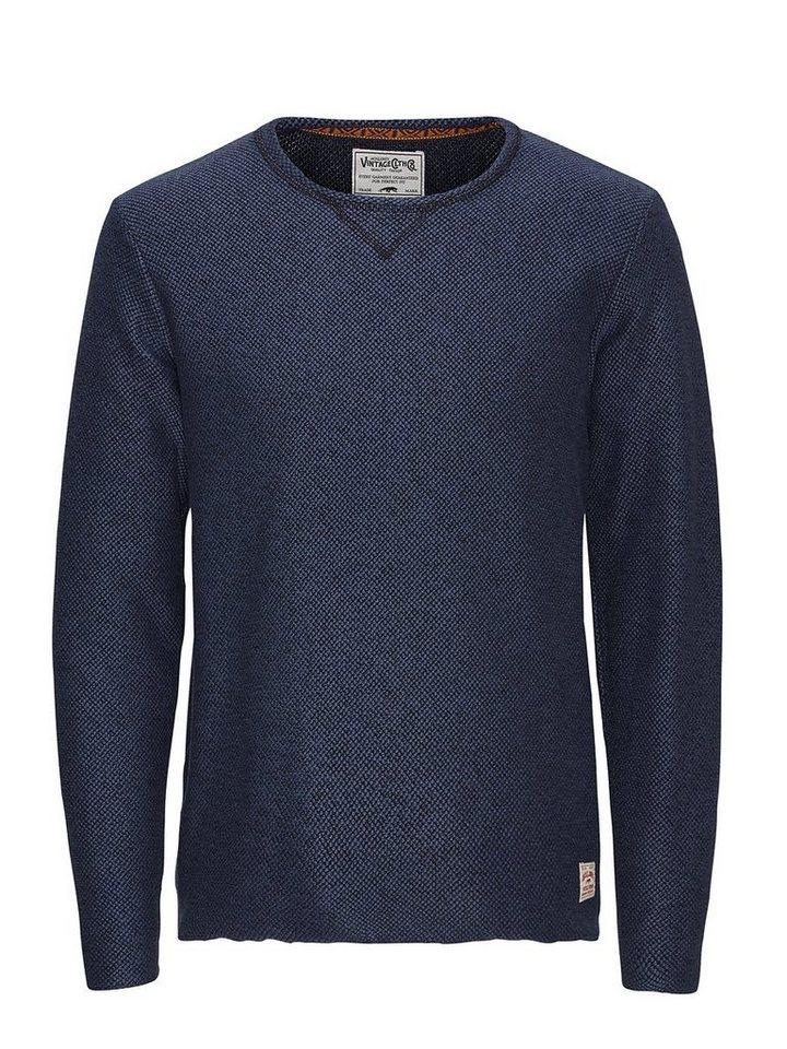 Jack & Jones Strukturiertes Sweatshirt in Ombre Blue
