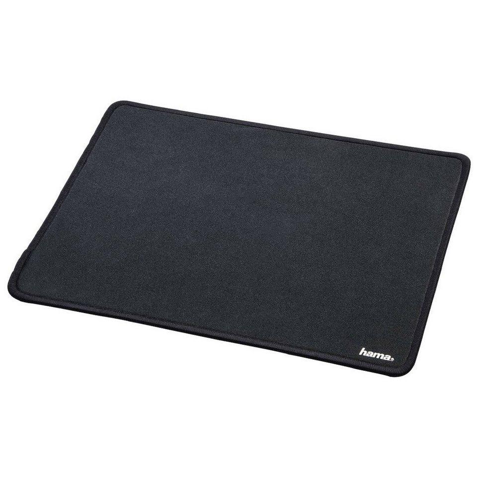 Hama Mauspad Mousepad extra groß DIN A4 Format für optische »Maus u. Lasermaus rutschfest« in Schwarz