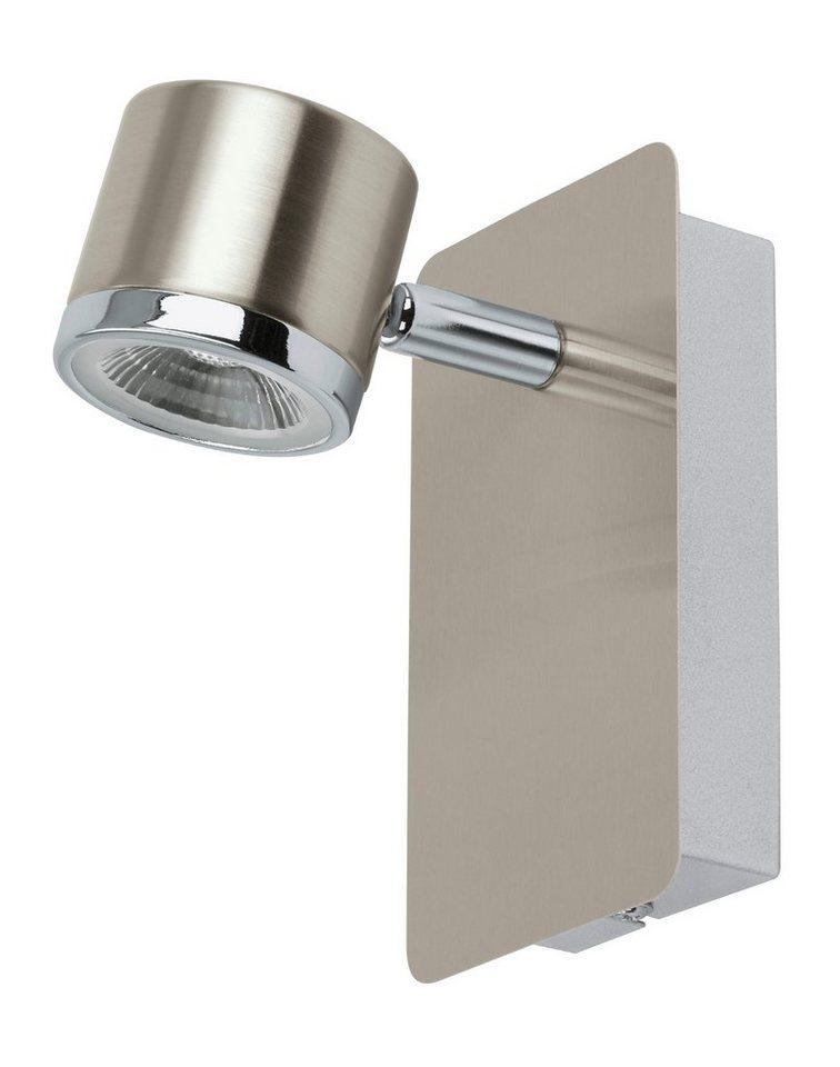 Eglo LED-Wandleuchte, 1flg. , »PIERINO« in Stahl, nickel matt, chromfarben