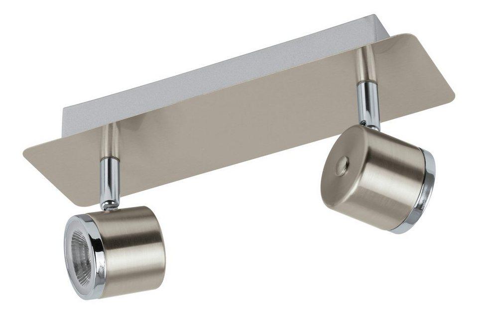 Eglo LED-Deckenleuchte, 2flg., »PIERINO« in Stahl, nickel matt, chromfarben