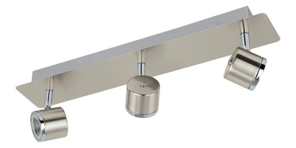 Eglo LED-Deckenleuchte, 3flg., »PIERINO« in Stahl, nickel matt, chromfarben