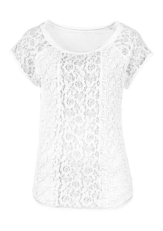 Lady Shirt mit überschnittenen Schultern in weiß