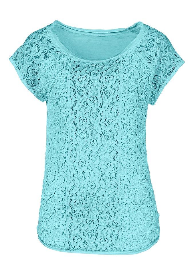 Lady Shirt mit überschnittenen Schultern in aqua