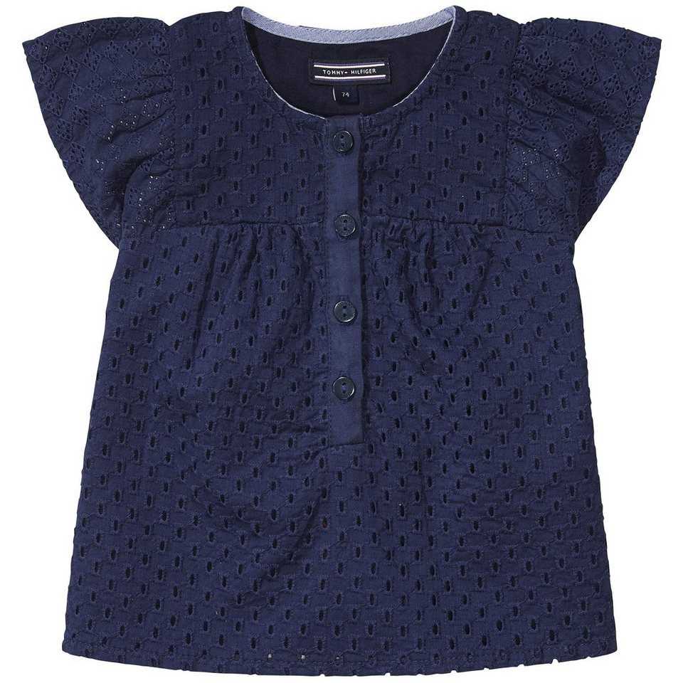 Tommy Hilfiger S/S Shirts / Woven Tops »FLORENCE MINI TOP S/S« in Black Iris