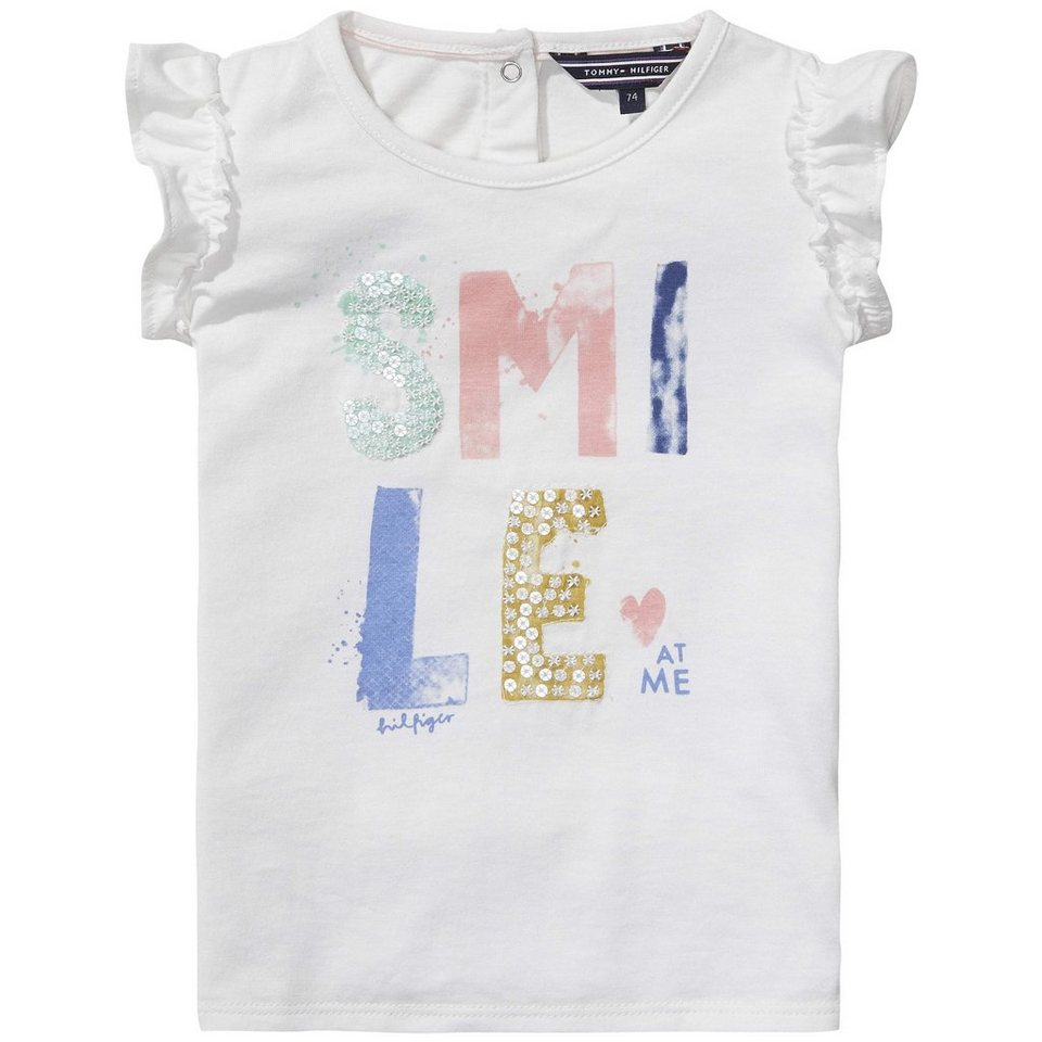 Tommy Hilfiger Tank Tops »SMILE MINI KNIT SLVLS« in white