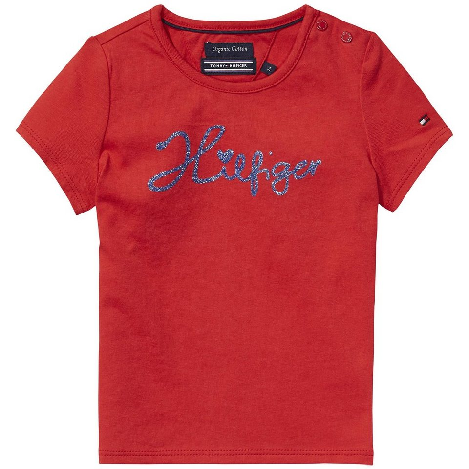 Tommy Hilfiger S/S T-Shirts »SOPHIA MINI CN KNIT S/S« in Tomato