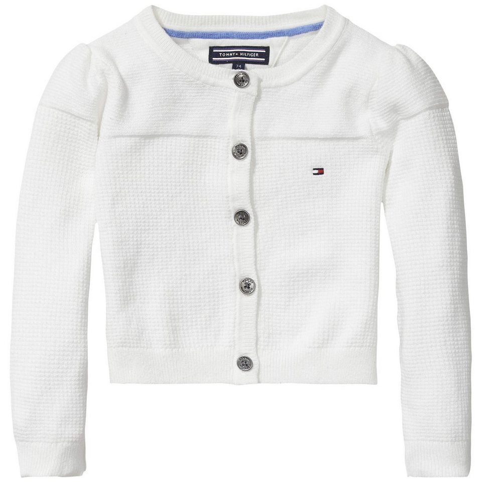 Tommy Hilfiger Cardigans »CAMILLE MINI CARDIGAN L/S« in white