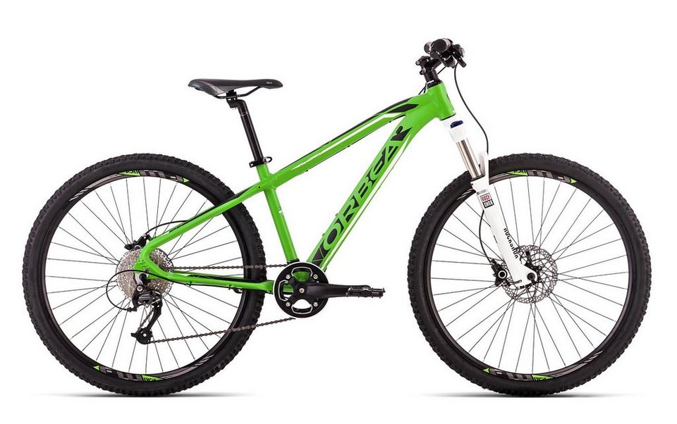 Jugendfahrrad, 26 Zoll, 9 Gang Shimano Acera M390, grün-schwarz, »MX 26 Team«, ORBEA in grün-schwarz