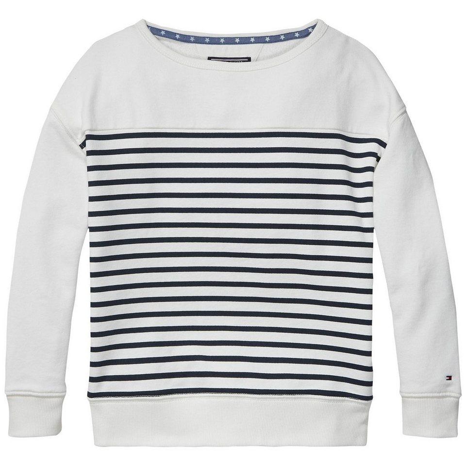 Tommy Hilfiger Sweatshirts »DG STRIPED BN HWK L/S« in Egret