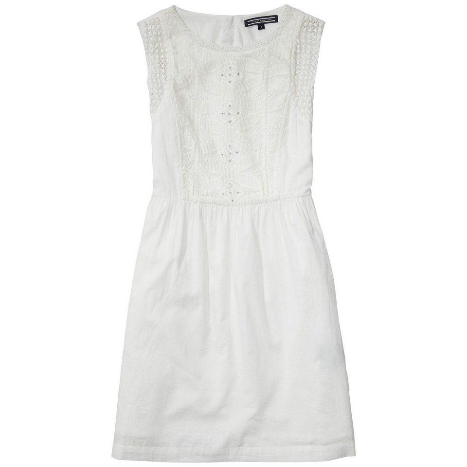 Tommy Hilfiger Dresses »DG FIXED WAIST DRESS SLVLS« in white