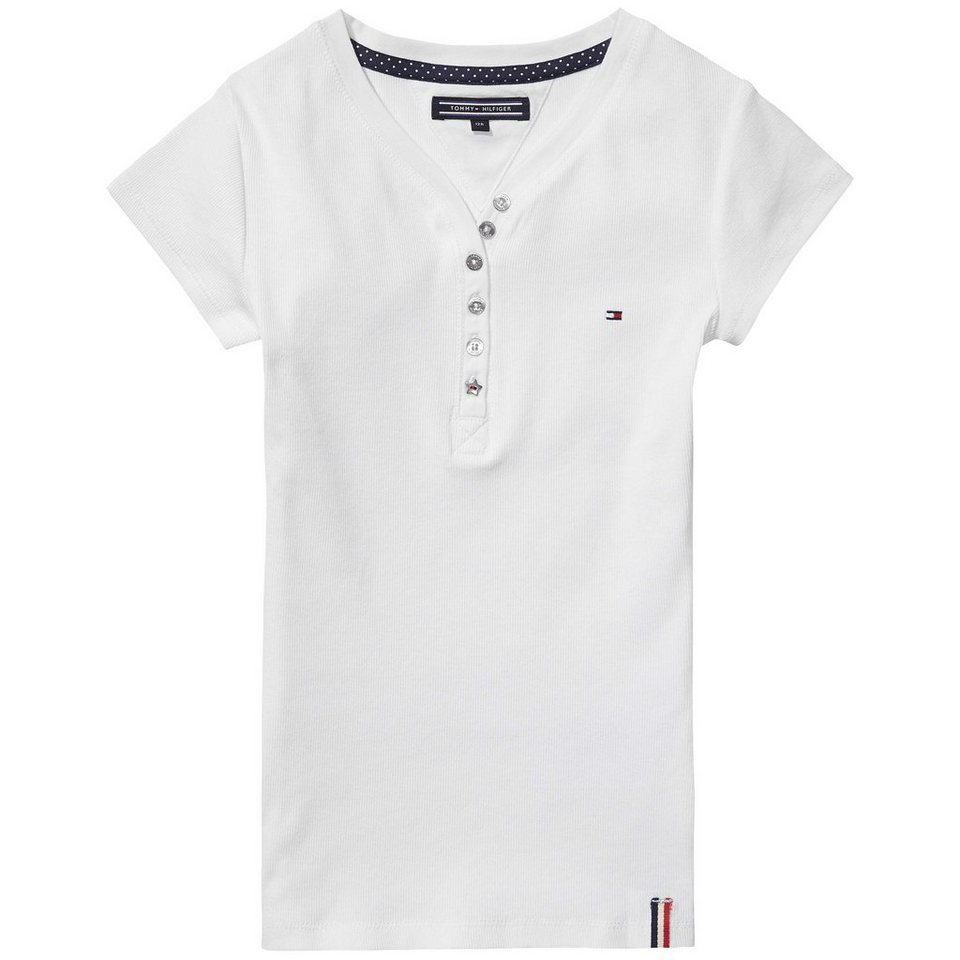 Tommy Hilfiger L/S T-Shirts »LOLA HENLEY S/S« in white