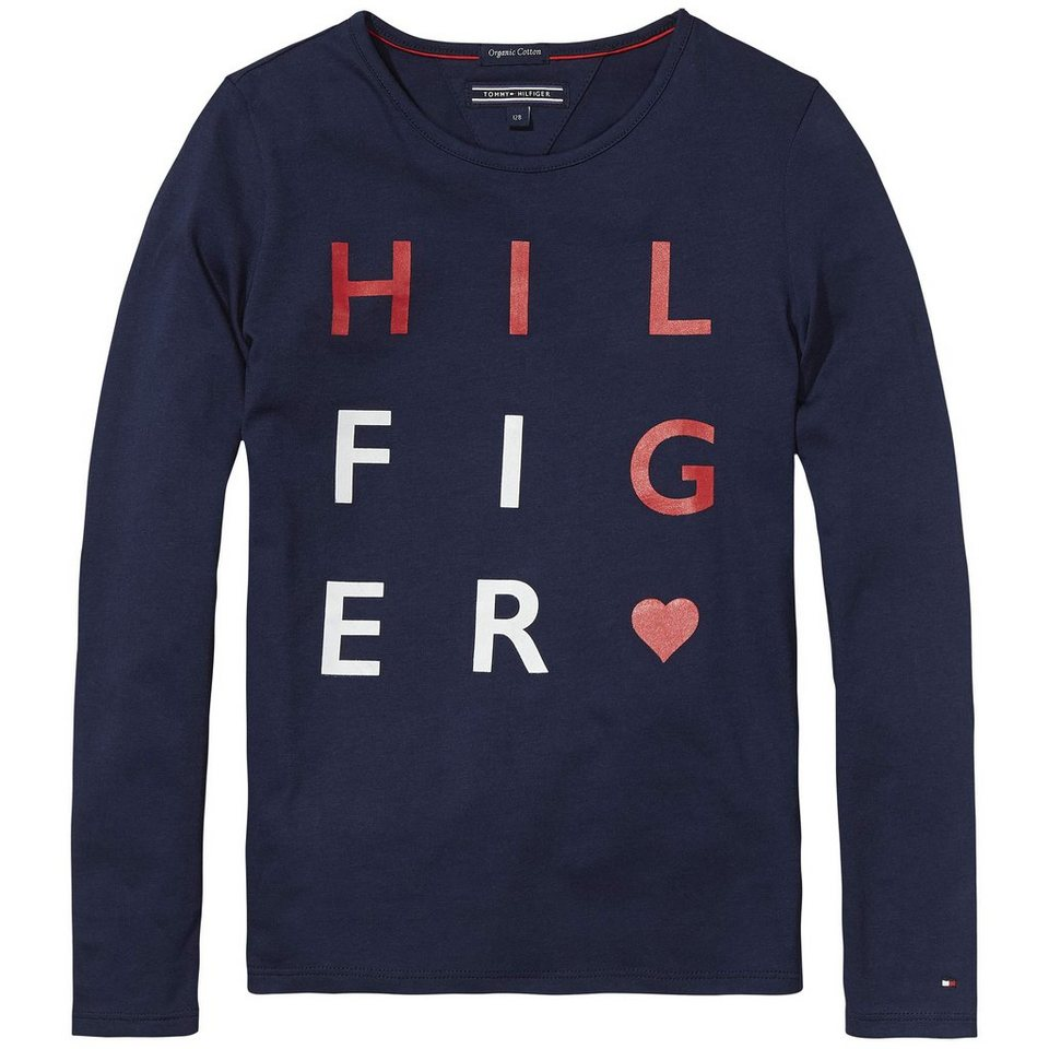 Tommy Hilfiger L/S T-Shirts »SHEENA CN KNIT L/S« in Black Iris