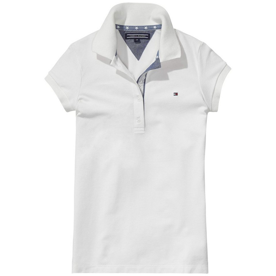 Tommy Hilfiger S/S Polos »GIRLS FITTED POLO S/S« in white