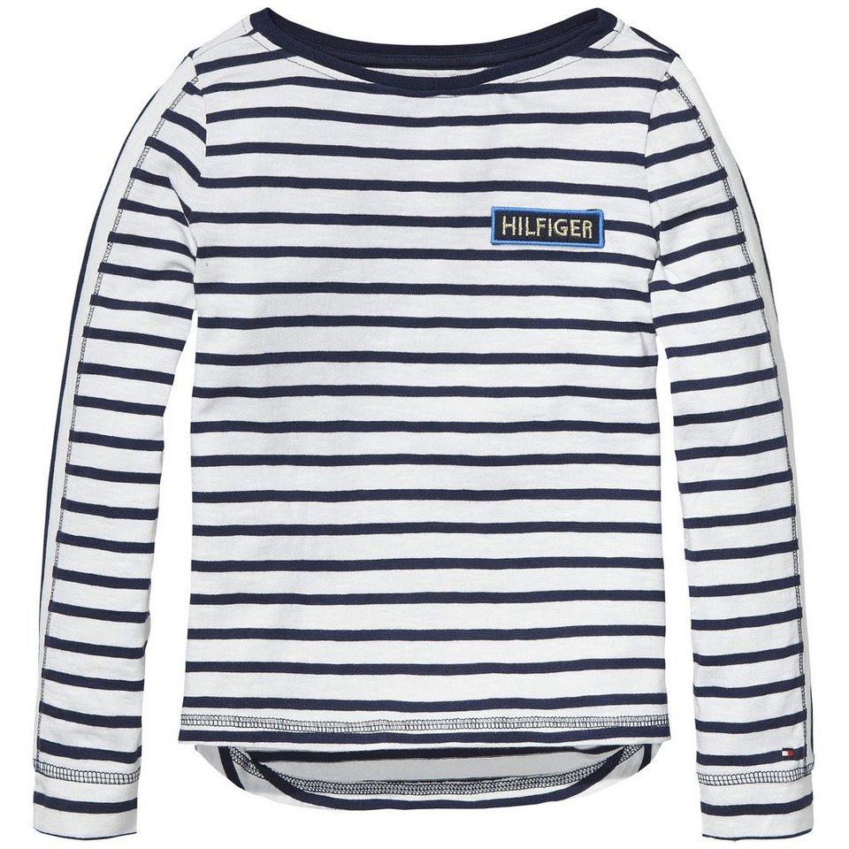 Tommy Hilfiger S/S T-Shirts »JAMIE STRIPE BN KNIT L/S« in white