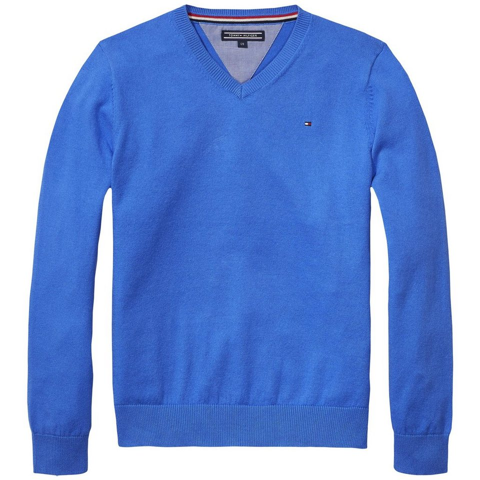 Tommy Hilfiger Pullovers »TOMMY VN FASHION SWEATER L/S« in Palace Blue