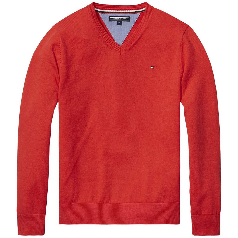 Tommy Hilfiger Pullovers »TOMMY VN FASHION SWEATER L/S« in Tomato