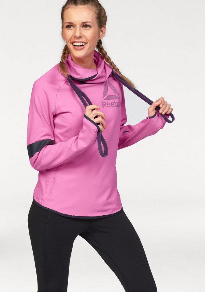 Reebok One Series Advantage Bioknit Cowl Neck Funktions-Langarmshirt in Pink