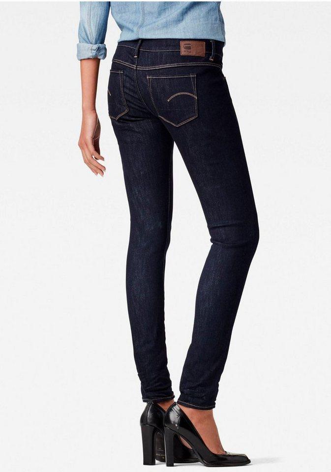 G-Star Skinny-fit-Jeans »3301 Deconst Low Super Skinny« mit niedriger Leibhöhe in raw