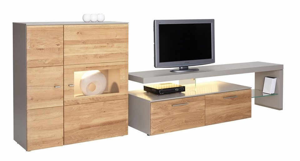 netfurn by gwinner wohnwand solano lack fango 2 tlg online kaufen otto. Black Bedroom Furniture Sets. Home Design Ideas