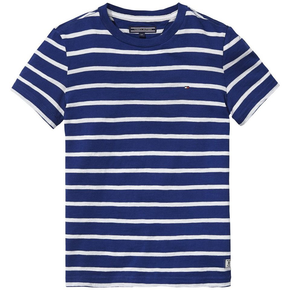 Tommy Hilfiger S/S T-Shirts »BICOLOR STRIPE CN TEE S/S« in TRUE Navy