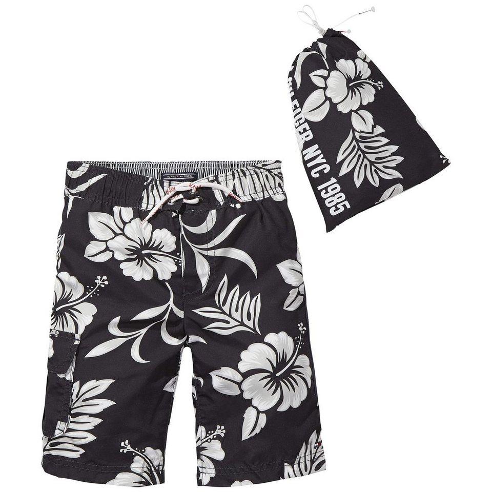 Tommy Hilfiger Swimwear »3 COLOR FLOWER PRINT BOARDSHORT« in Black Iris