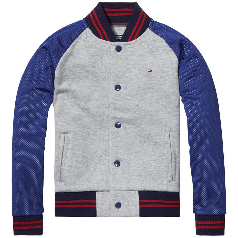 Tommy Hilfiger Other Heavyweight Knits »BASEBALL HWK JACKET L/S« in Light Grey Heather