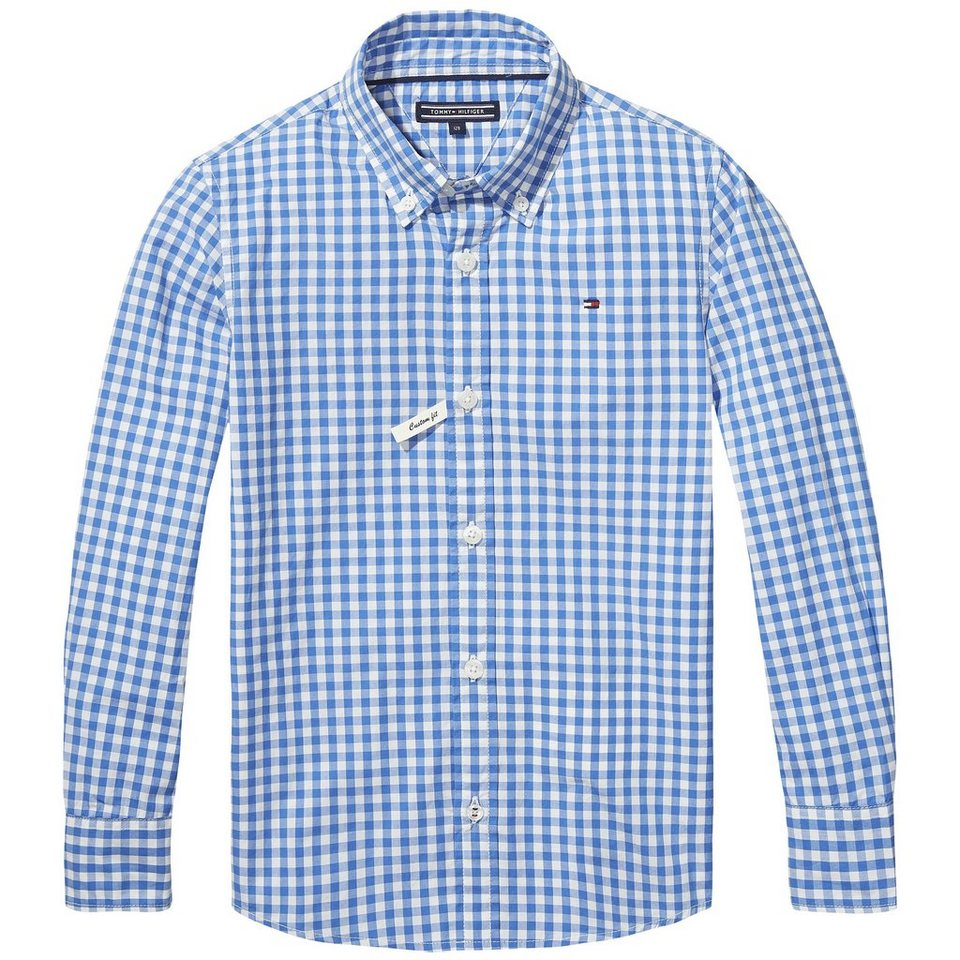 Tommy Hilfiger L/S Shirts / Woven Tops »CARTER GINGHAM SHIRT L/S« in Palace Blue