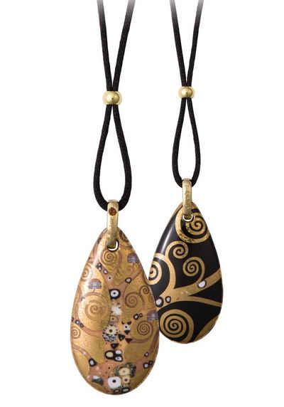 Goebel Kette mit Anhänger »Der Lebensbaum, Artis Orbis Gustav Klimt, 66999061«, mit Kristall