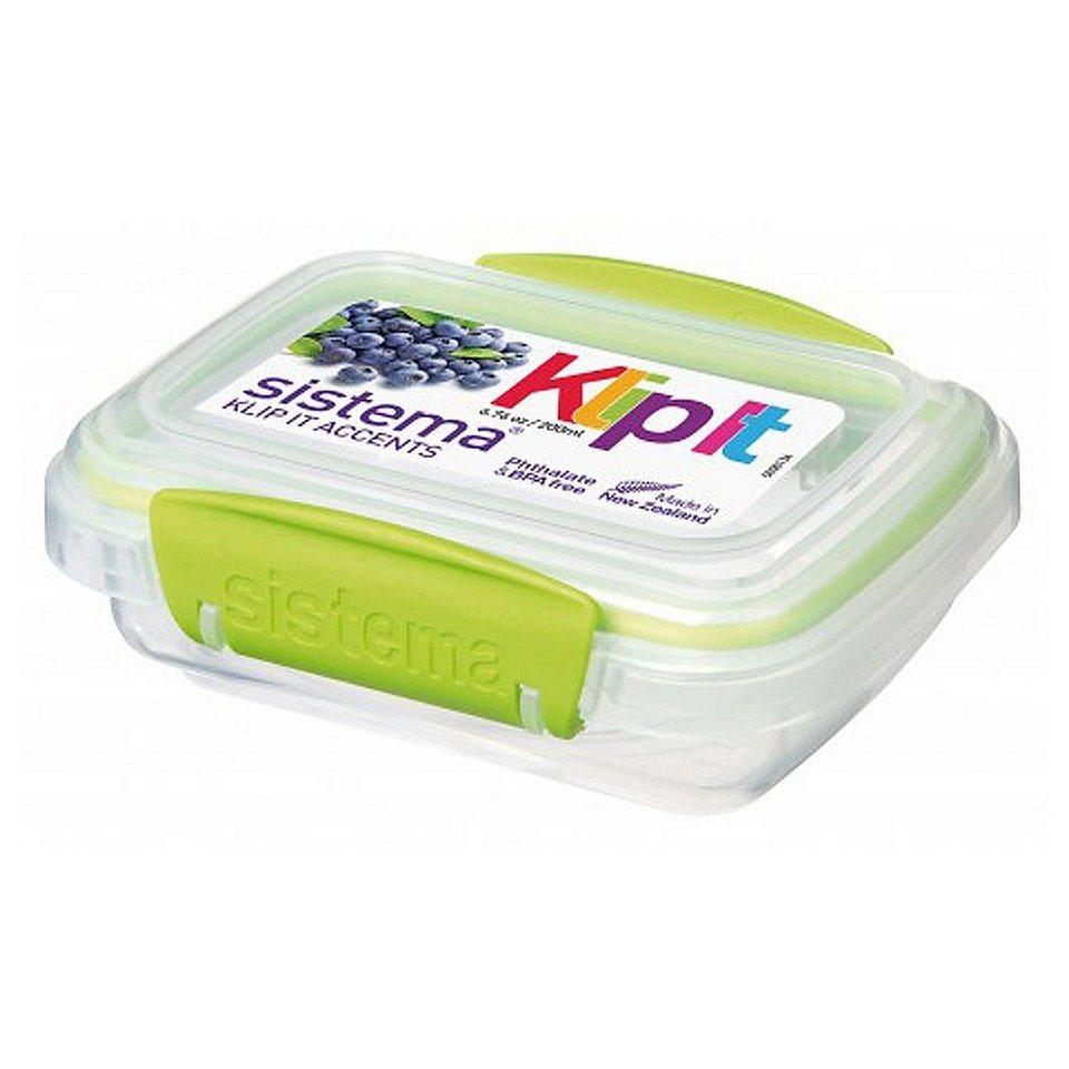 sistema sistema Frischhaltedose Klip it accents, 0.2 l grün in transparent, grün