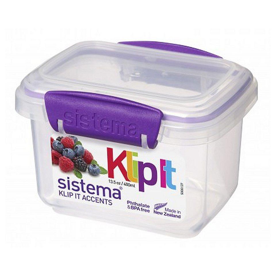 sistema sistema Frischhaltedose Klip it accents, 0.4 l lila in transparent, lila