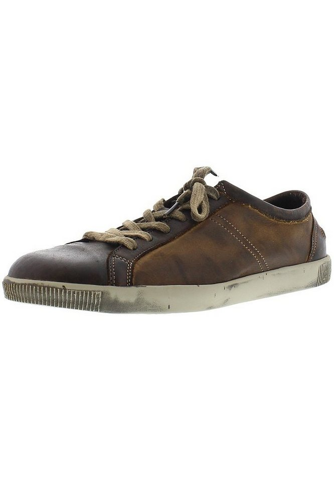 softinos sportlicher Schnürschuh »Tom washed leather« in braun