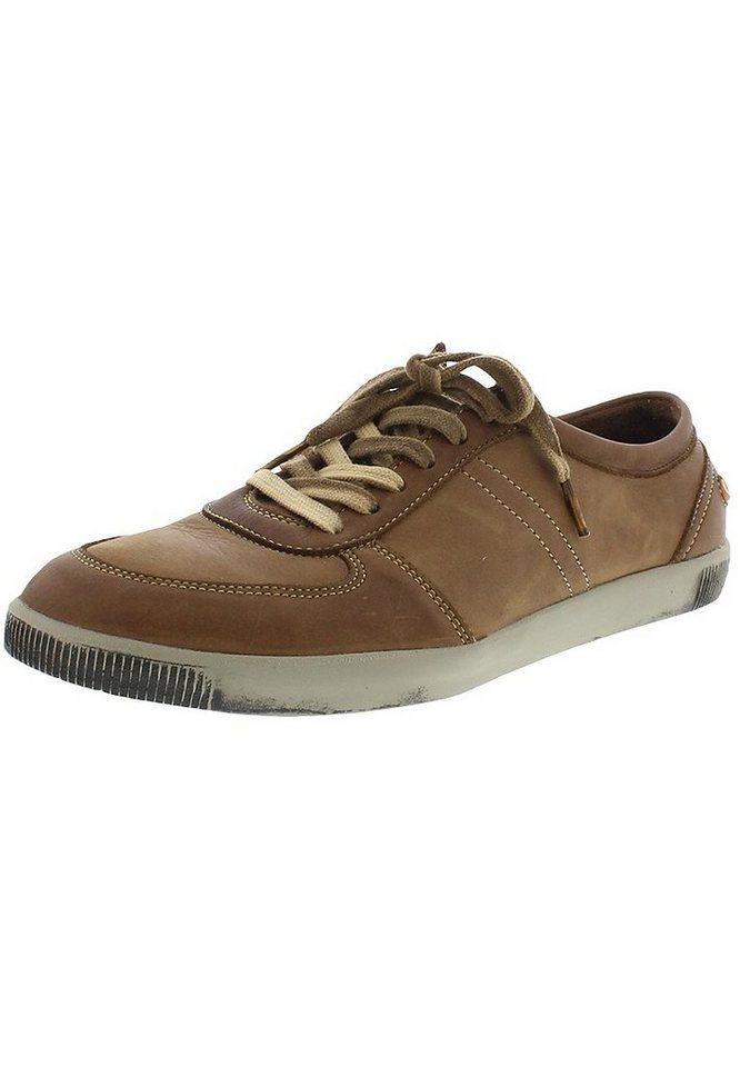 softinos sportlicher Schnürschuh »TREY305SOF washed leather« in braun