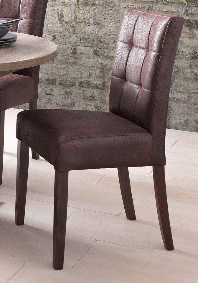 Stühle (2 Stück) in vintage braun