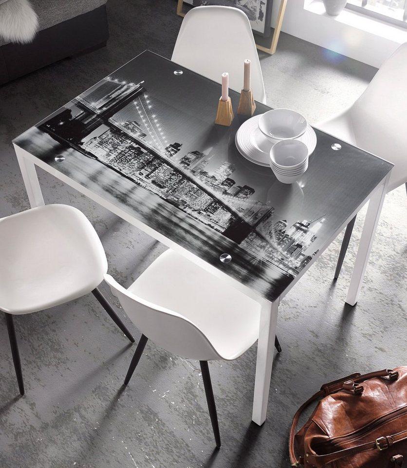 Esstisch, Breite 110 cm in weiß