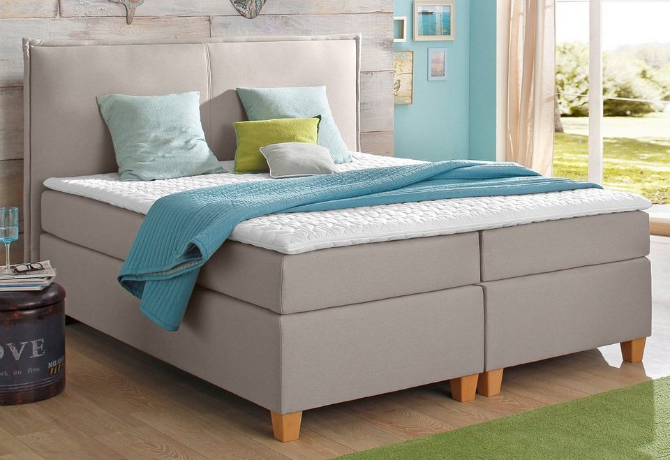 Home affaire Boxspringbett inkl. Topper »Maxim« in braun-beige