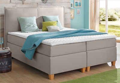 boxspringbett wei 200 200. Black Bedroom Furniture Sets. Home Design Ideas