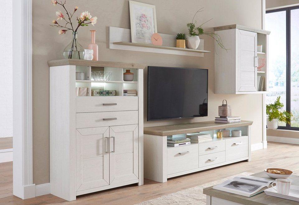 set one by Musterring Wohnwand »york«, (Set, 4-tlg), im Landhaus Stil  online kaufen | OTTO
