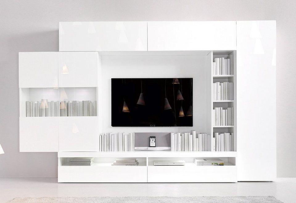 INOSIGN Wohnwand (5-tlg.) in weiß / weiß