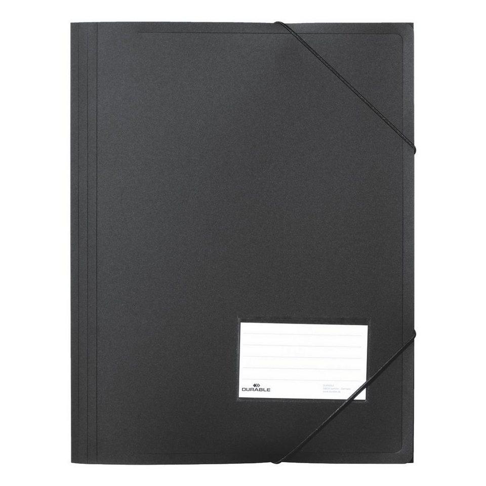 Durable Eckspannermappe in schwarz