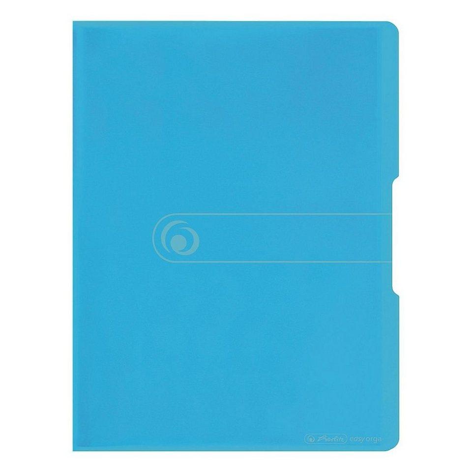 Herlitz Sichtbuch »easy orga« in transparent blau