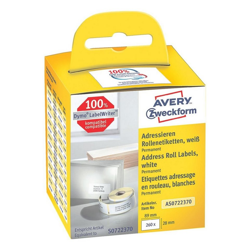 Avery Zweckform Rollenetiketten »AS0722370«