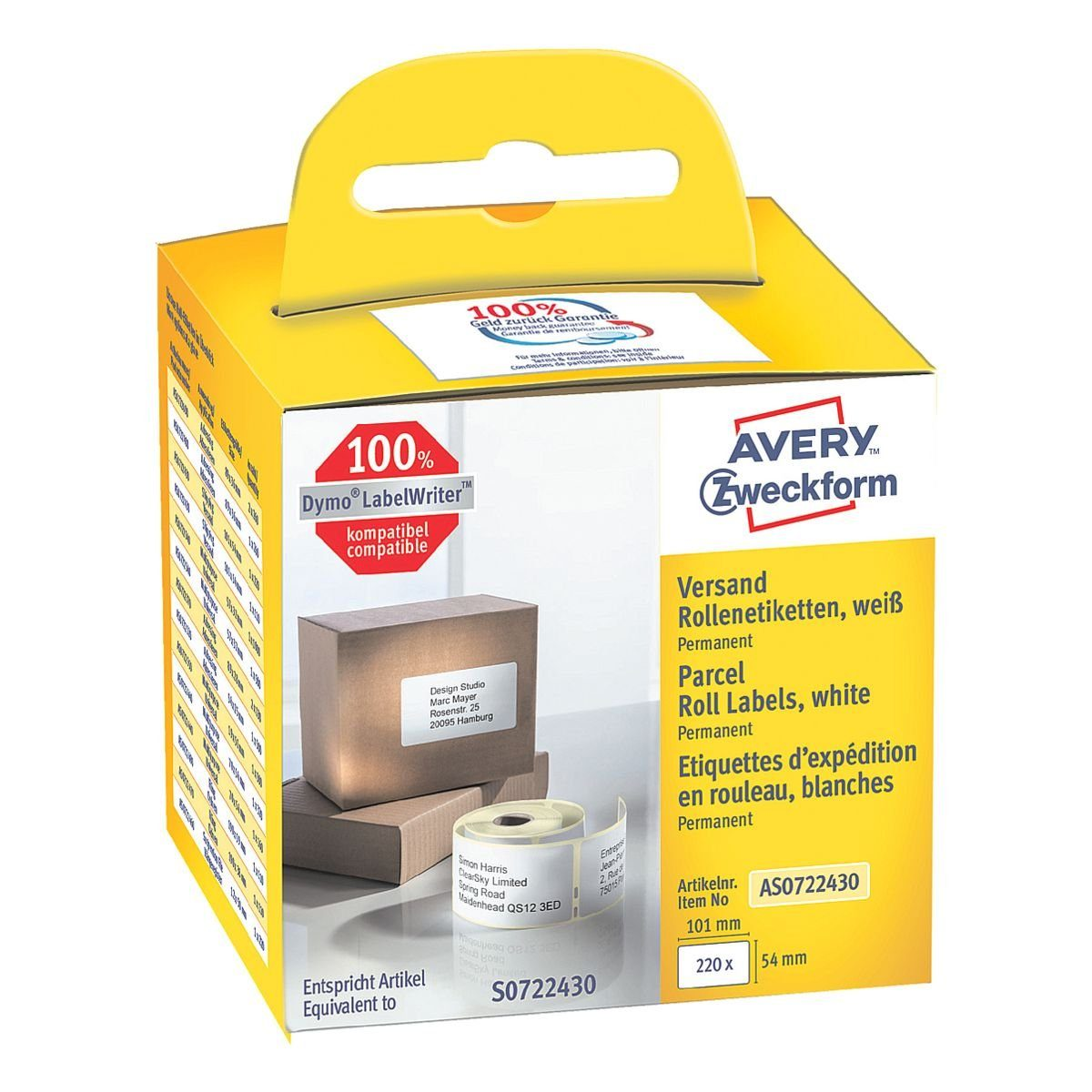 Avery Zweckform Rollenetiketten »AS0722430«