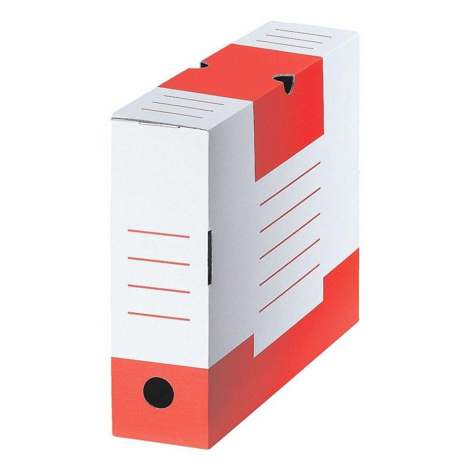 CARTONIA Archivschachtel »Color« in rot