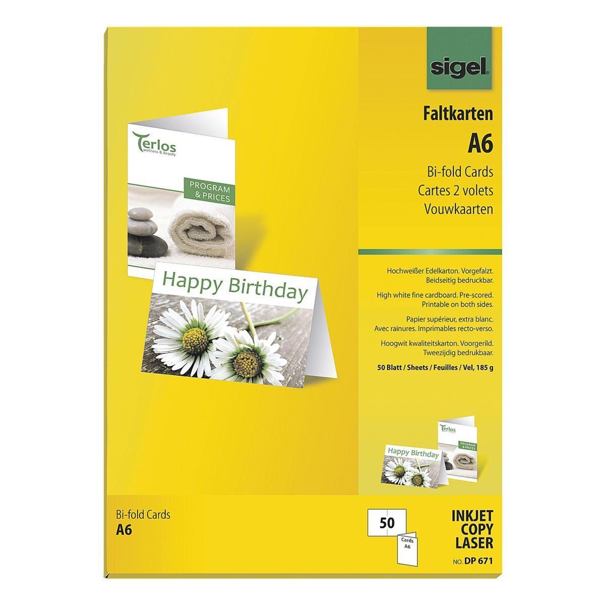 Sigel Faltkarte DP671