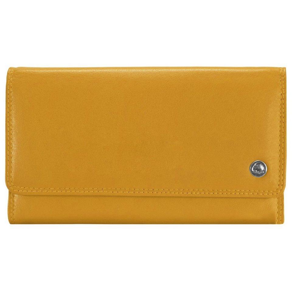 Greenburry Spongy Geldbörse Leder 18 cm in gelb